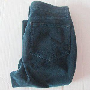 NYDJ green blue velvet skinny jeans